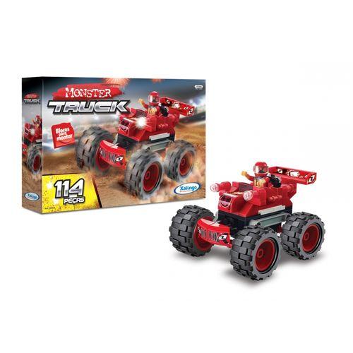 Blocos-de-Encaixe-Monster-Truck-Vermelho