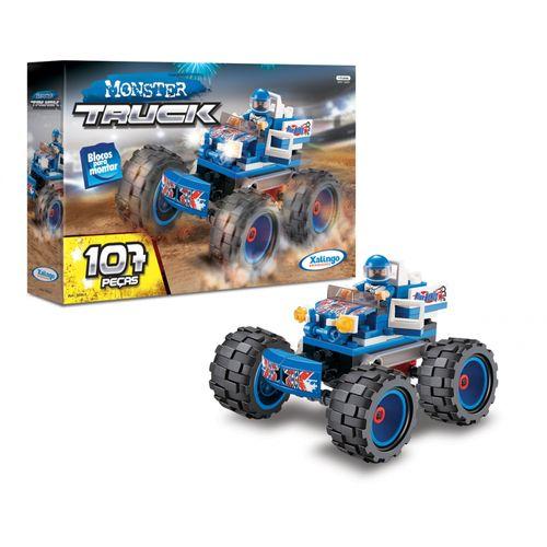Blocos-de-Encaixe-Monster-Truck-Azul