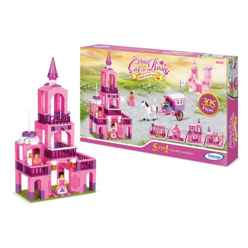 0588-7---Reino-Cor-de-Rosa-Castelo-da-Princesa---5-em-1---305-pecas---Detalhe-01